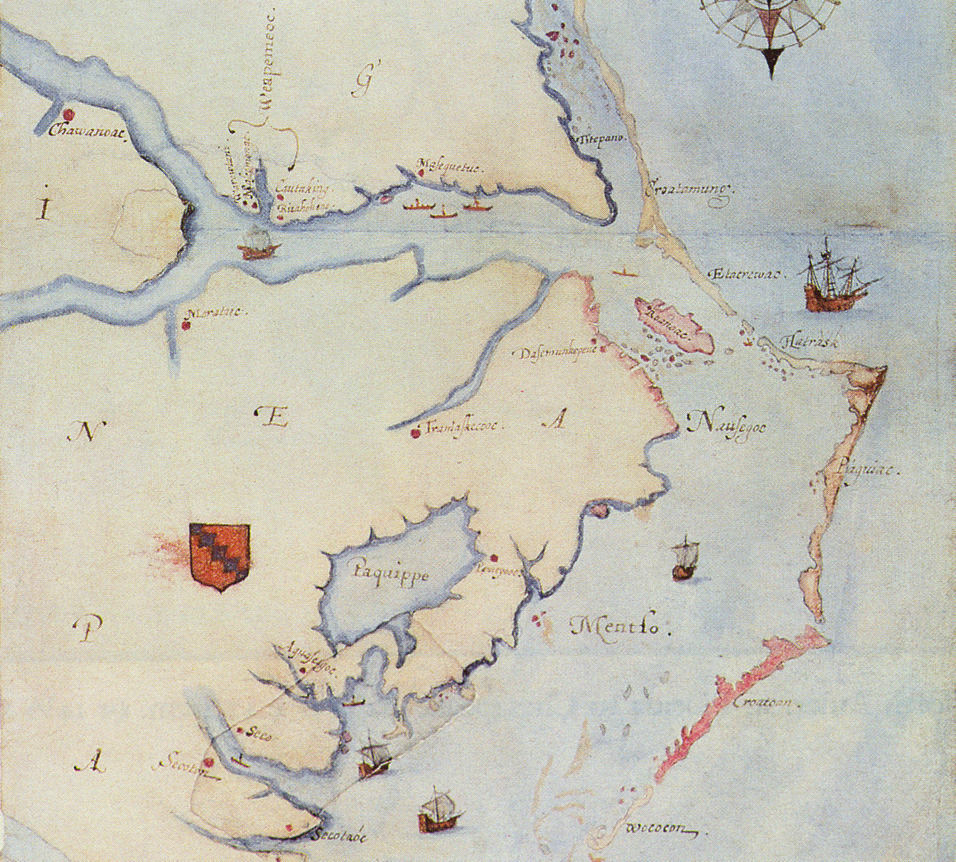 John White Map Chowan Fort Discovery – Analysis