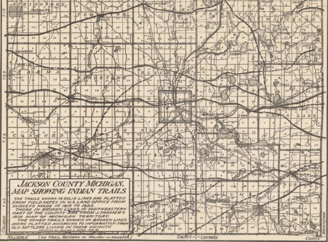 Jackson Co Mi Indian Trails Map