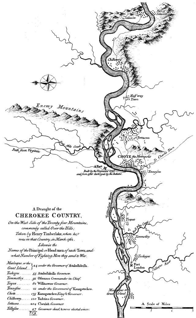 Timberlake Cherokee map