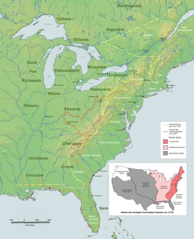 Proclamation 1763 map