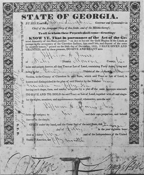 1832 georgia grant