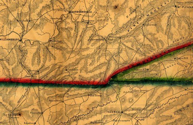 cumberland gap old map