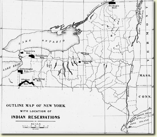 Map Of New York Indian Reservations.1910 Ny Map Of Indian Reservations Native Heritage Project