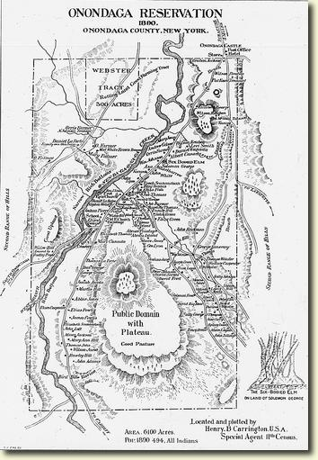 Map Of New York Indian Reservations.1911 Map Of Ny Onondaga Indian Reservation Native Heritage Project