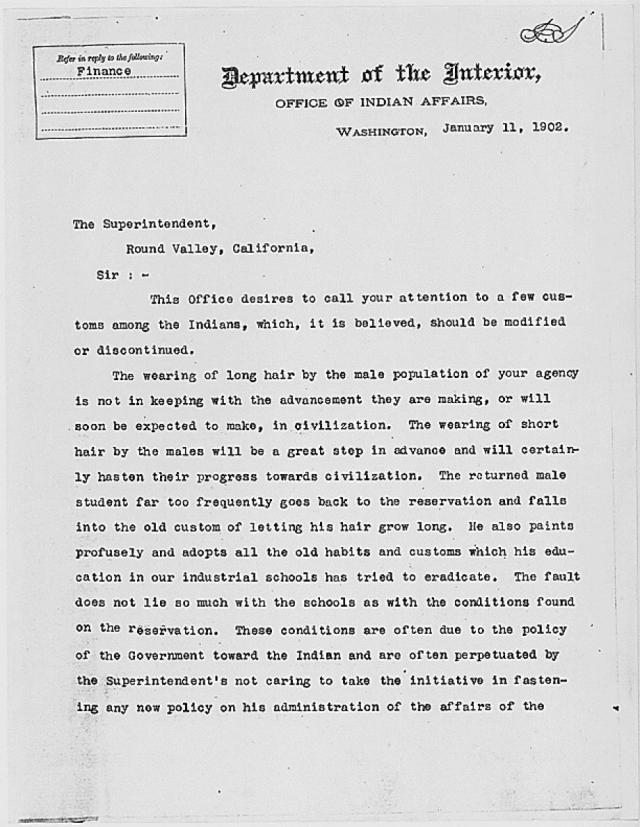 1902 hair cut letter