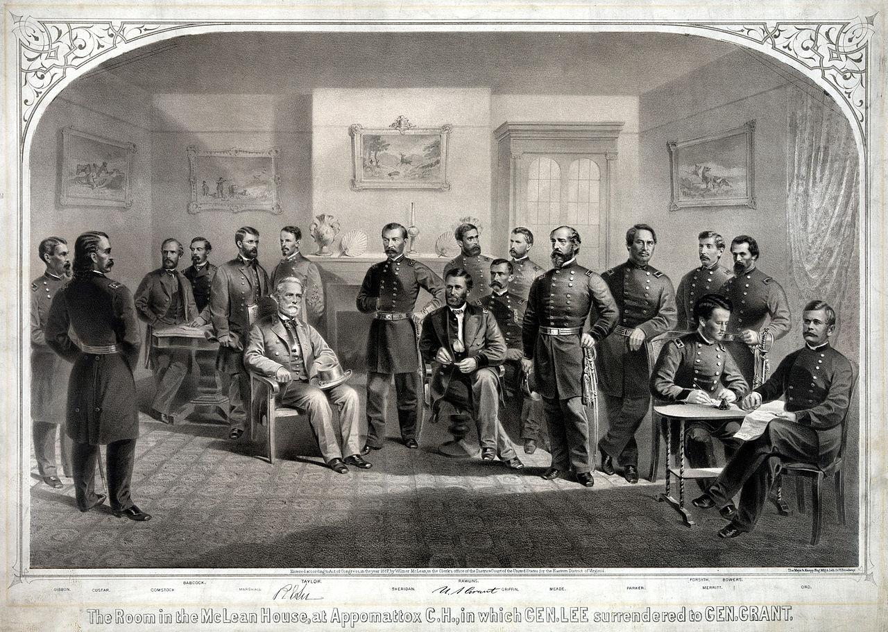 Surrender at appomattox date in Melbourne
