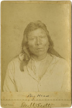 Chief Big Head, Standing Rock, Dakota Territory (1/5)
