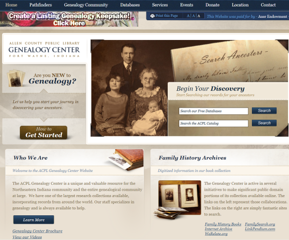genealogy center
