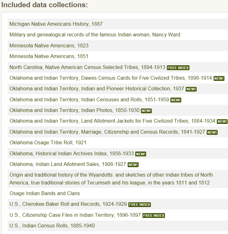 American Indian Records on Ancestry | Native Heritage Project