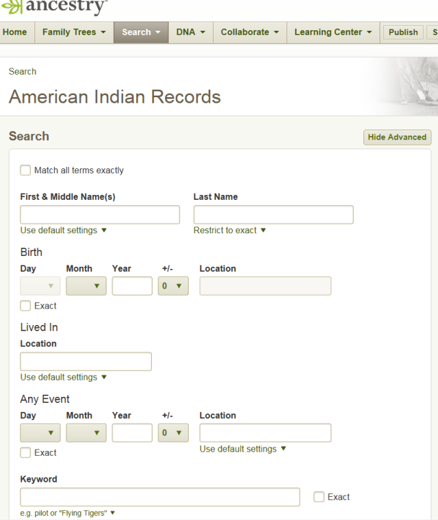 ancestry indian collection